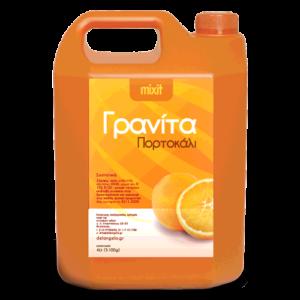 Mixit μείγμα γρανίτας με γεύση πορτοκάλι. Συσκευασία 5.2kg.